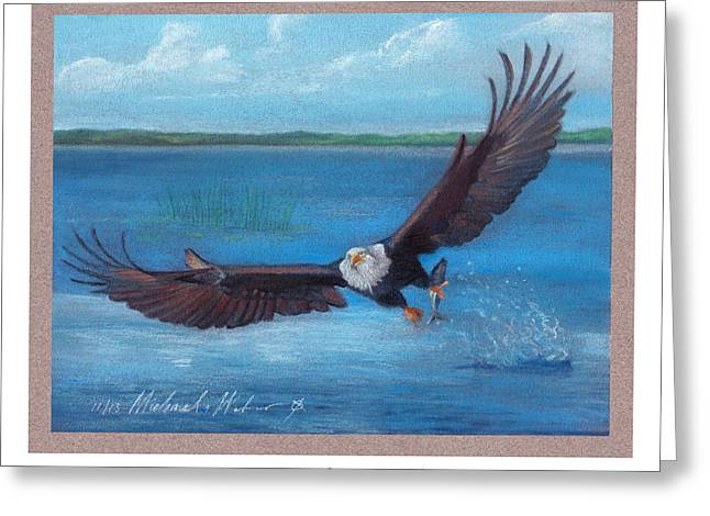 Bald Eagle Pastels Greeting Cards - Bald Eagle Greeting Card by Michael  Weber