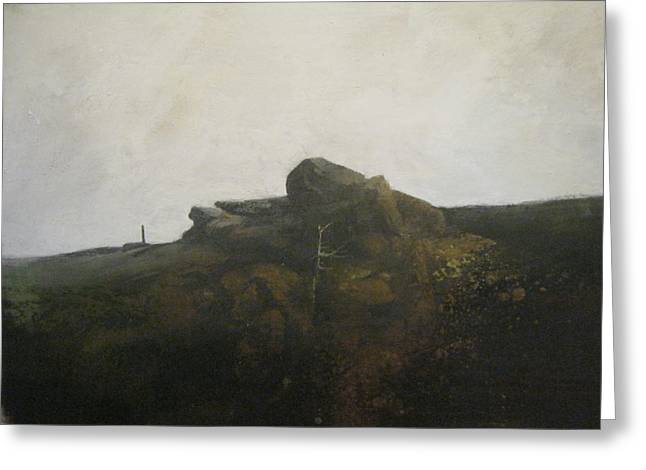 Abstract Realist Landscape Greeting Cards - Bald Knob Greeting Card by Darryl Steele