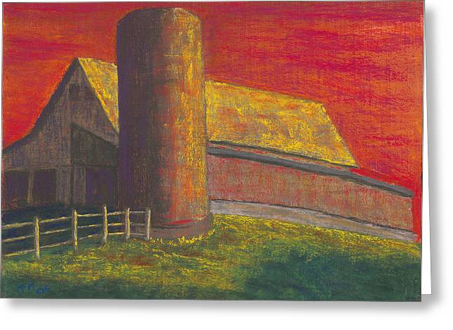 Rural Scene Pastels Greeting Cards - Balducci Sunset Greeting Card by Garry McMichael