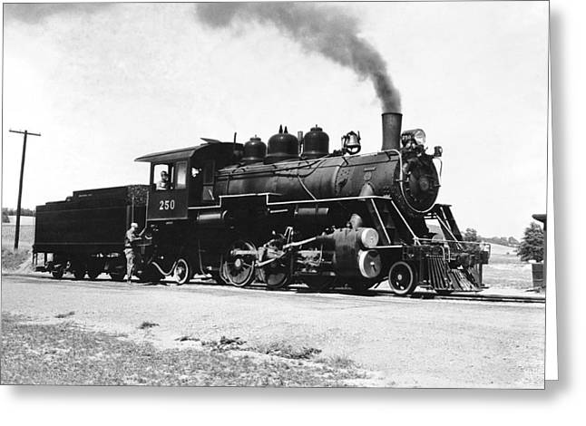 Baldwin Locomotive 250 Greeting Card by Underwood Archives