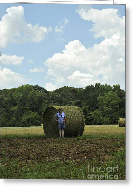 Bailing Hay Greeting Cards - Bale Babe Greeting Card by ARTography by Pamela  Smale Williams