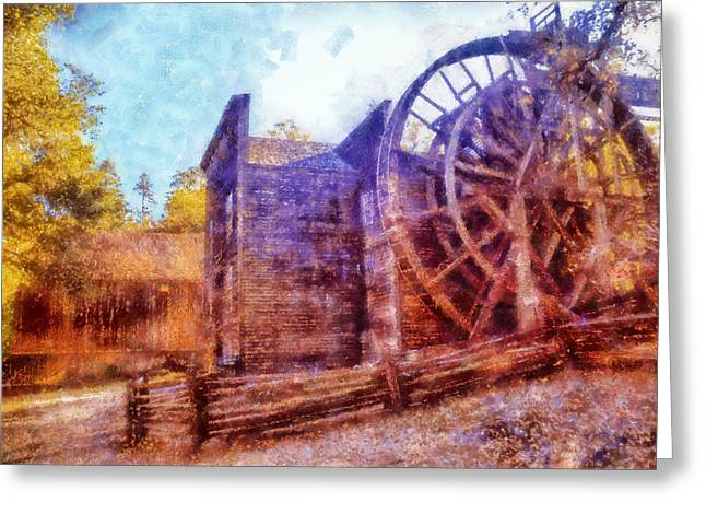Calistoga Digital Art Greeting Cards - Bale Grist Mill Greeting Card by Kaylee Mason