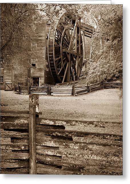 Bale Grist Mill Greeting Cards - Bale Mill Greeting Card by Brett Hall
