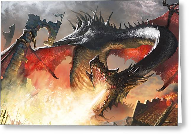 Balerion The Black Greeting Card by Ryan Barger
