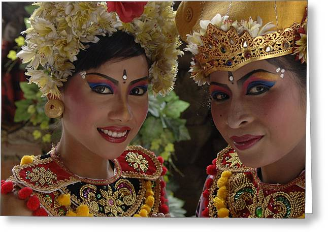 Bali Beauties Greeting Card by Bob Christopher