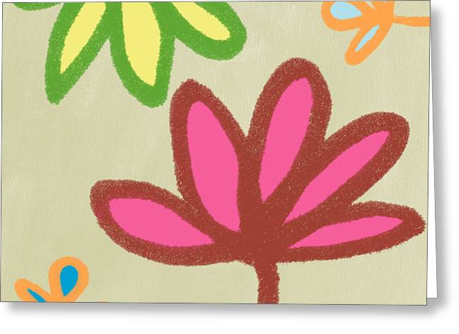 Tropical Flower Greeting Cards - Bali Garden Greeting Card by Linda Woods