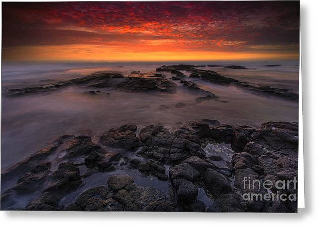 Nada Mas Photography Llc. Greeting Cards - Bali Kai - Kona Sunset  Greeting Card by Marco Crupi