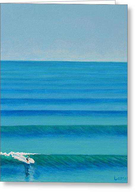 Surf Greeting Cards - Bali Lines Greeting Card by Nathan Ledyard