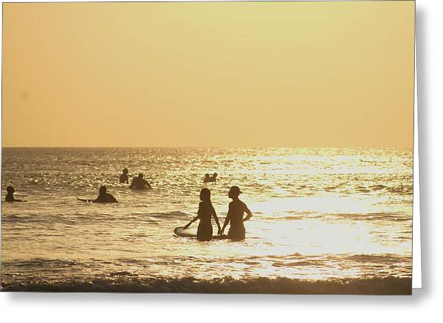 Reflections Of Sun In Water Greeting Cards - Bali Romance Greeting Card by Max Brudvig