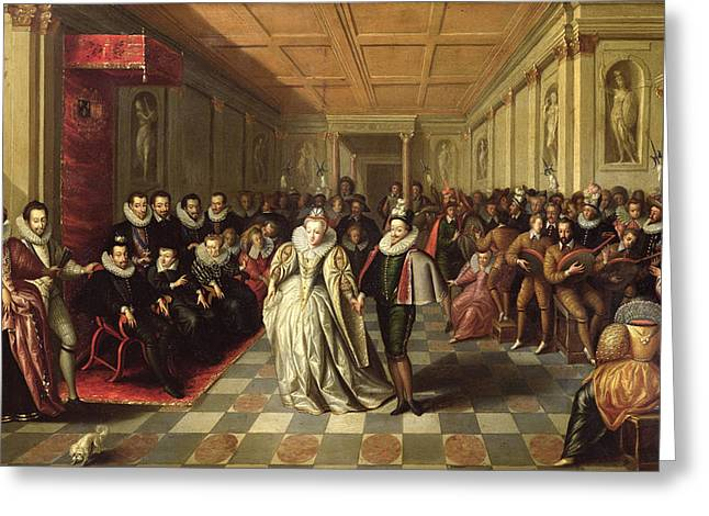 Duke Greeting Cards - Ball At The Court Of Henri Iii On The Occasion Of The Marriage Of Anne, Duke Of Joyeuse Greeting Card by French School