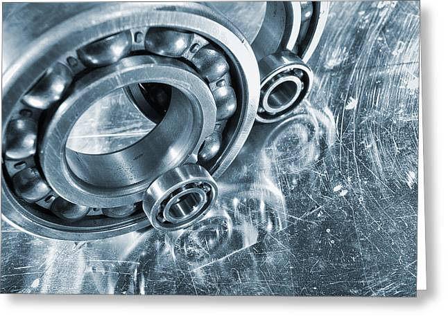 Stainless Steel Greeting Cards - Ball Bearings And Engineering Greeting Card by Christian Lagereek
