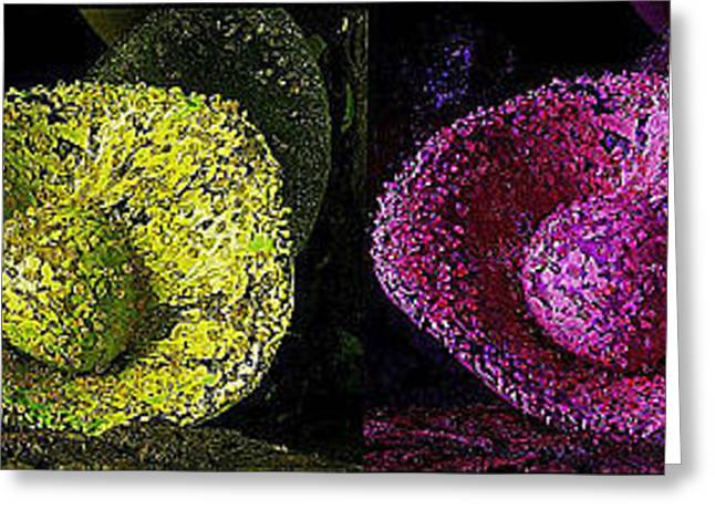Glass Wall Greeting Cards - Ball in Glove Series  Greeting Card by Bob Brents