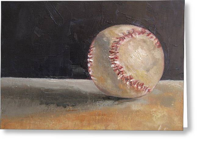 Baseball Memorabilia Greeting Cards - Ball Number 2 Greeting Card by Lindsay Frost