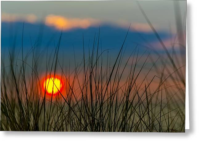 Ethereal Beach Scene Greeting Cards - Ball of Fire Greeting Card by Sebastian Musial
