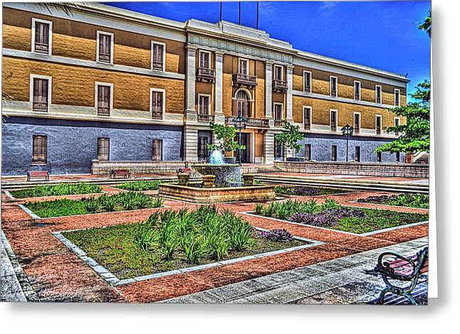 San Juan Puerto Rico Greeting Cards - Ballaja Barracks Museum  Greeting Card by Diosdado Molina