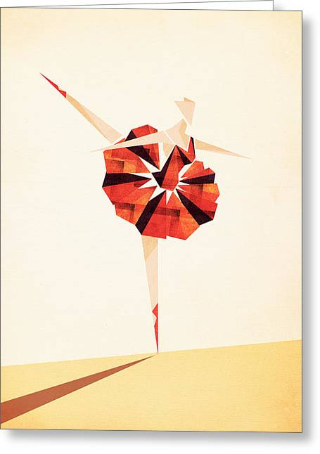 Dancer Art Greeting Cards - Ballance  Greeting Card by VessDSign