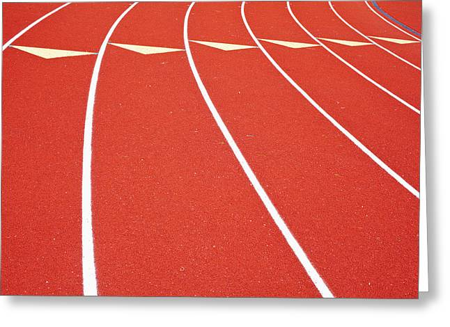 Ballard High School Track Sruface Greeting Card by Nathan Griffith