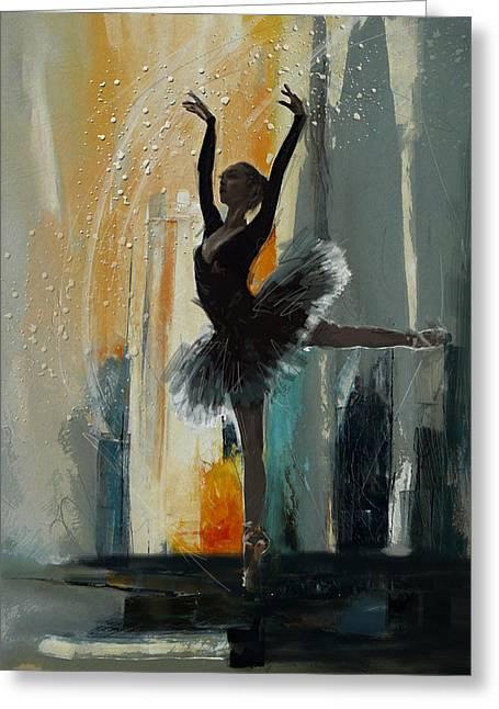 Ballet Dancers Greeting Cards - Ballerina 17 Greeting Card by Mahnoor Shah