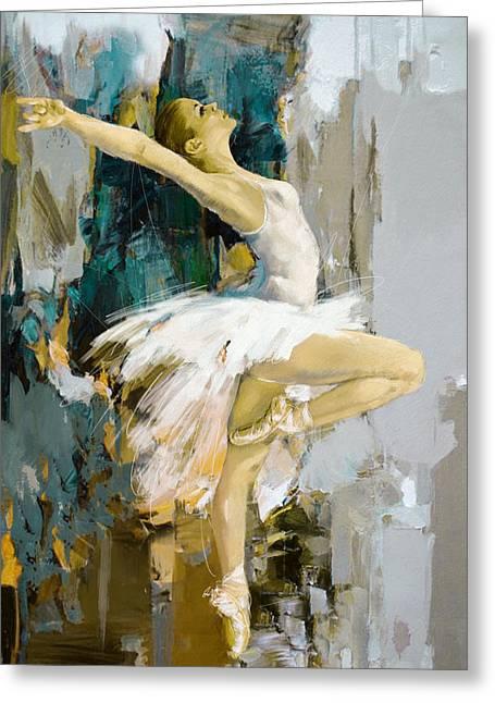 Ballet Dancers Greeting Cards - Ballerina 23 Greeting Card by Mahnoor Shah