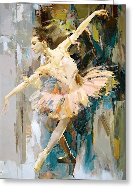 Ballet Dancers Greeting Cards - Ballerina 31 Greeting Card by Mahnoor Shah
