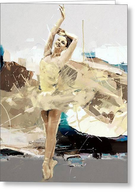 Ballet Dancers Greeting Cards - Ballerina 34 Greeting Card by Mahnoor Shah