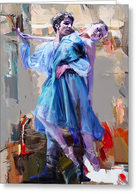 Man And Woman Greeting Cards - Ballerina 37 Greeting Card by Mahnoor Shah