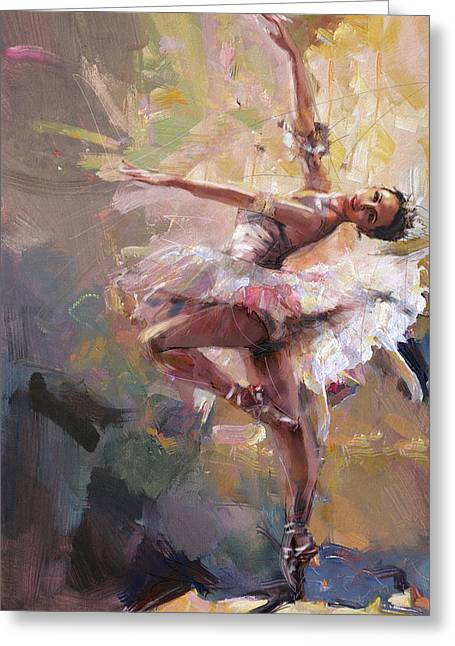 Skirts Greeting Cards - Ballerina 40 Greeting Card by Mahnoor Shah