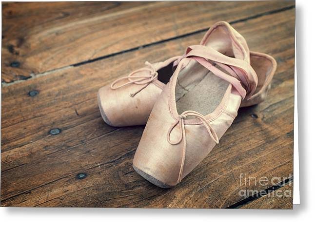 Ballet Dancers Greeting Cards - Ballerina Greeting Card by Delphimages Photo Creations