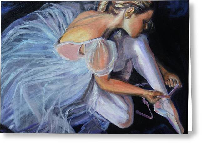Recently Sold -  - Sit-ins Greeting Cards - Ballerina Greeting Card by Donna Tuten