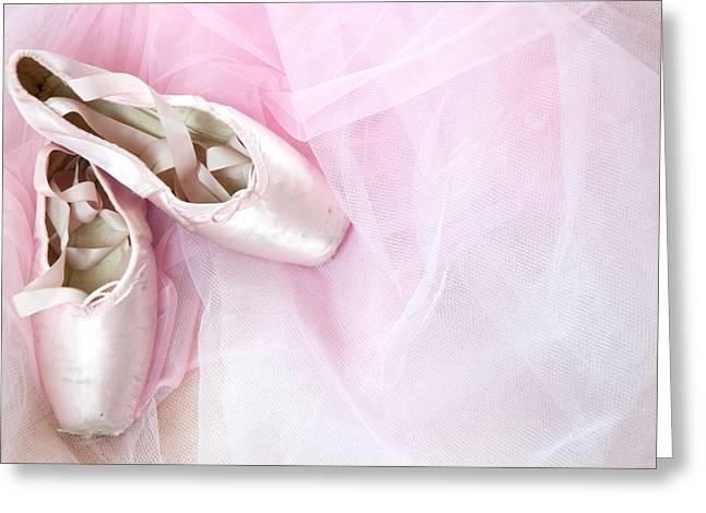Innocence Greeting Cards - Ballerina Dreams Greeting Card by Zina Zinchik