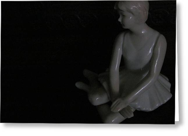 Dancing Figurine Greeting Cards - Ballerina Figurine Greeting Card by Tina M Wenger
