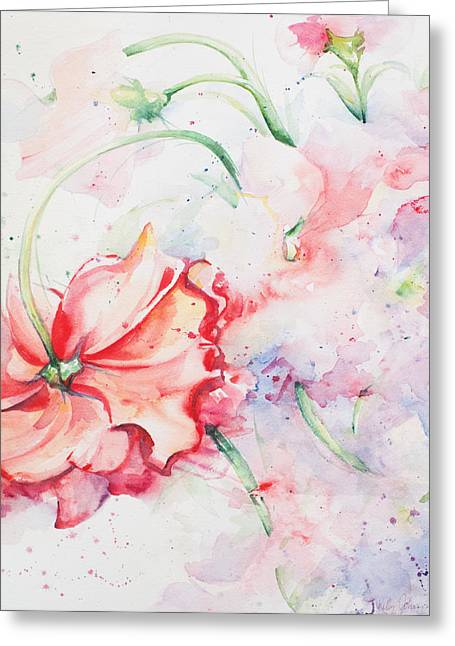 Kelly Johnson Greeting Cards - Ballerina Flowers Greeting Card by Kelly Johnson