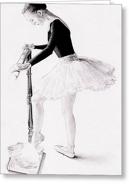 Ballet Dancers Drawings Greeting Cards - Ballerina Greeting Card by Herb Jordan