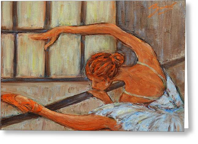 Ballet Dancers Greeting Cards - Ballerina II Greeting Card by Xueling Zou