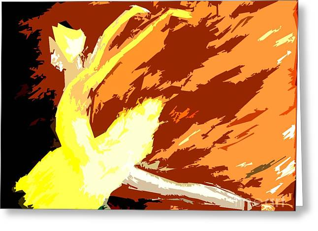 Ballerina Mixed Media Greeting Cards - Ballerina In A Yellow Dress Greeting Card by Patrick J Murphy