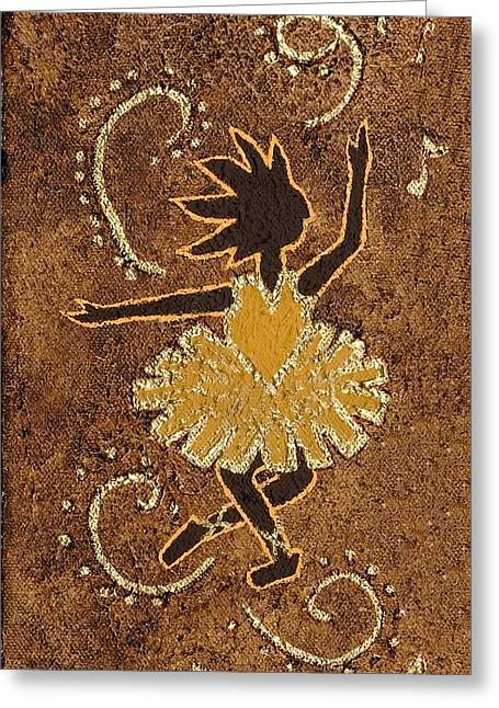 Ballerina Greeting Card by Katherine Young-Beck