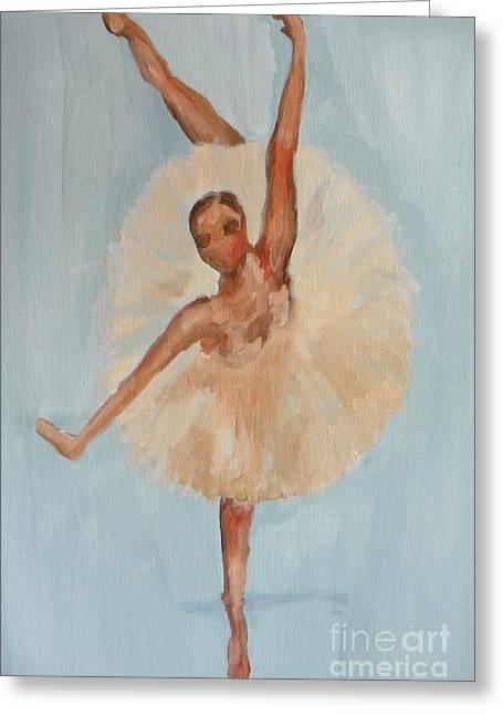 Ballerina Greeting Card by Marisela Mungia