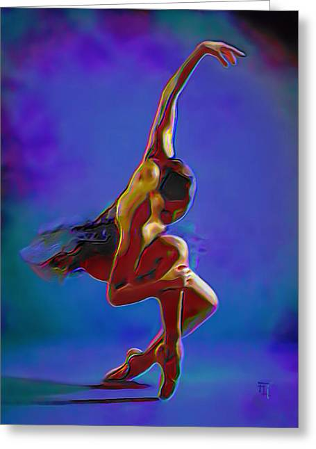 Fli Greeting Cards - Ballerina On Point Greeting Card by  Fli Art