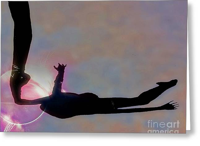 Ballerina On Point Greeting Card by Tom Gari Gallery-Three-Photography