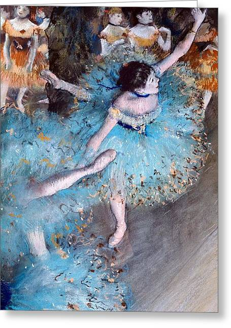 France 1874-1886 Greeting Cards - Ballerina on pointe  Greeting Card by Edgar Degas