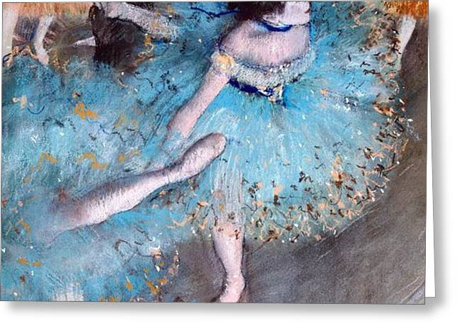 Ballerina on pointe  Greeting Card by Edgar Degas