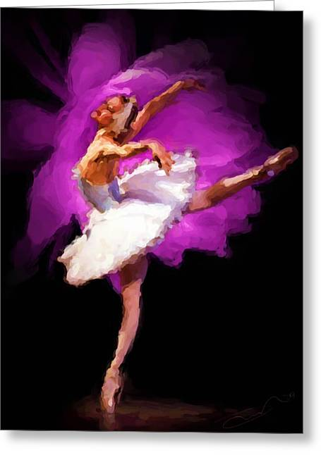 Ballet Of Colors Greeting Cards - Ballerina Greeting Card by Shawn Abel