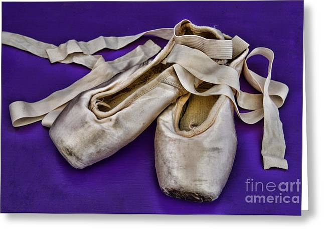 En Pointe Greeting Cards - Ballerina Slippers Greeting Card by Paul Ward