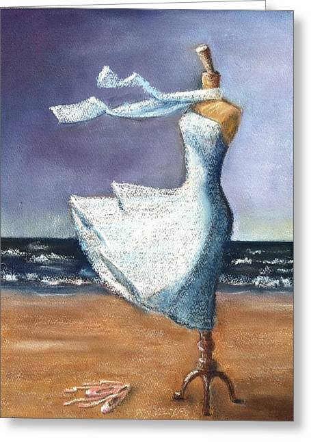 Windy Pastels Greeting Cards - Ballerina Tendu II Greeting Card by Ellen Minter