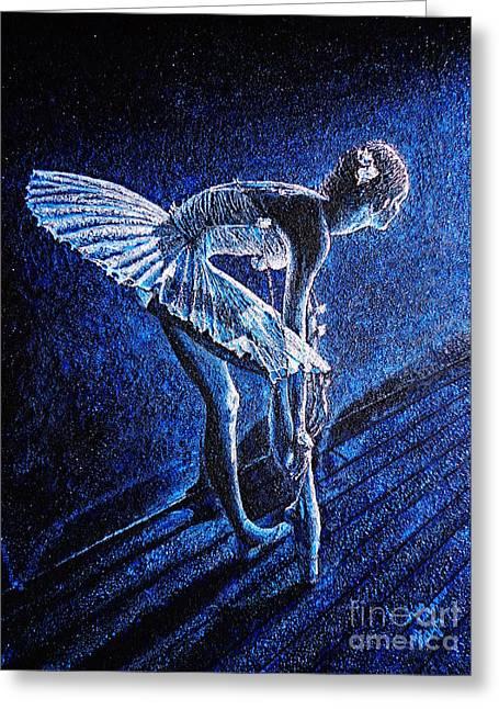 Tchaikovsky Greeting Cards - Ballerina Greeting Card by Viktor Lazarev