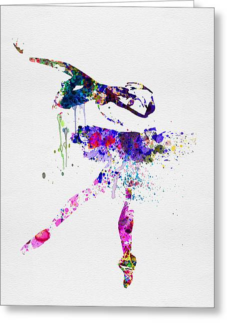 Young Digital Art Greeting Cards - Ballerina Watercolor 2 Greeting Card by Naxart Studio