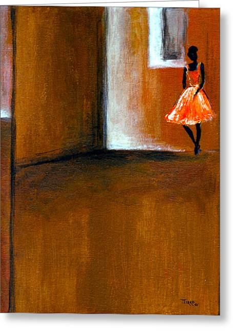 Ballerine Solitaire Greeting Card by Mirko Gallery