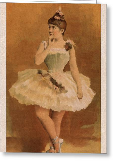 Art Decor Greeting Cards - Ballet Greeting Card by Aged Pixel