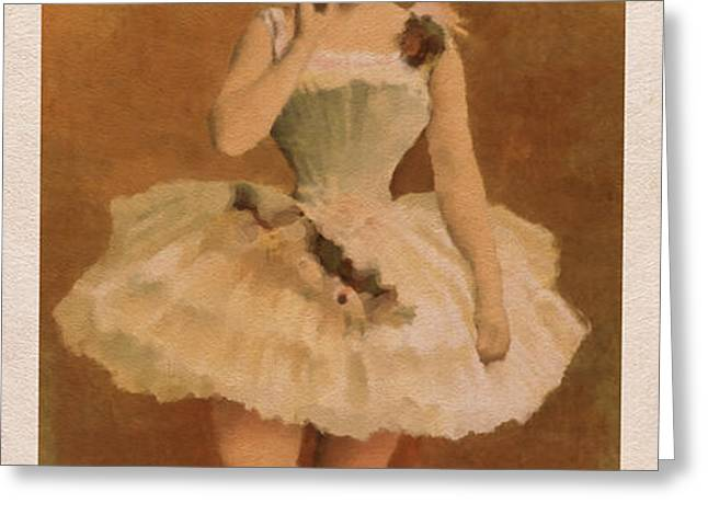 Ballet Greeting Card by Aged Pixel