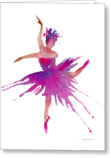 Ballet Dancers Greeting Cards - Ballet Arabesque Greeting Card by Amy Kirkpatrick